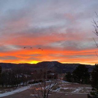 +The sun sets on Spinnaker Trail.⠀ ⠀ ⠀ #authorlife #sunsets #HeatherSlade #winter #mountains #authorsofinstagram